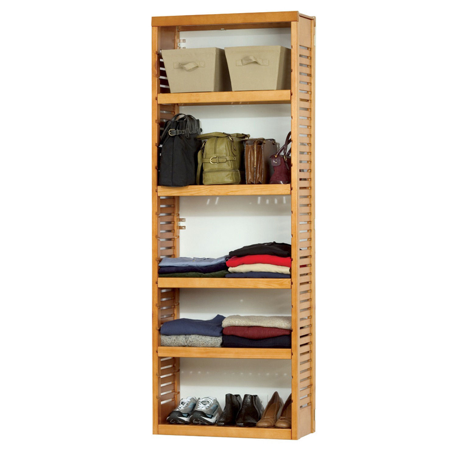 Wonderful image of Wooden Closet Shelving System · Luxurious Wood  Jewelry & Gift  with #B11A23 color and 1500x1500 pixels