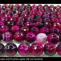 Purple Fuchsia Agate (fire treated) 10mm