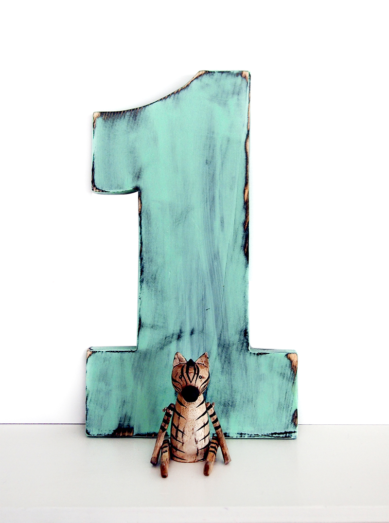 The Pine Nuts | Wooden Number 1 (Pictured in Mint) Pine Wood Sign ...