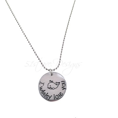 I whaley love you circle pendant