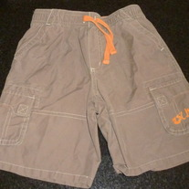 Brown Shorts with Orange Draw String-Old Navy Size 5T