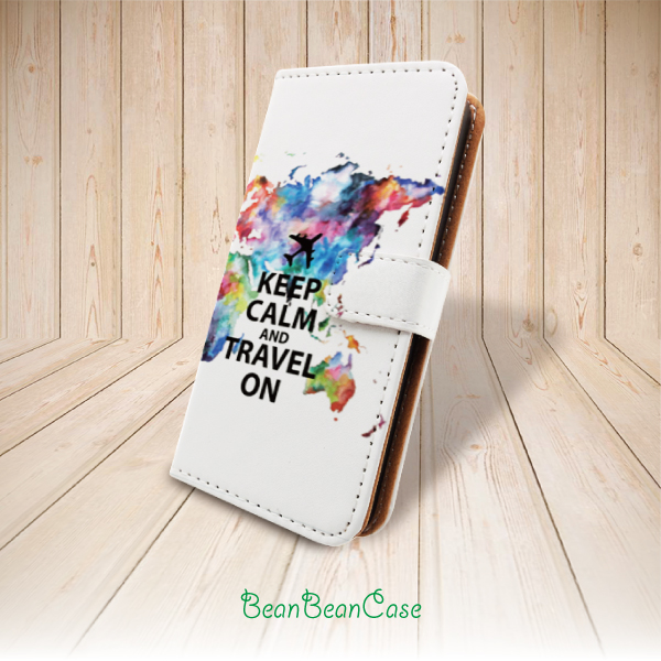 World Map Iphone 6s Case.Keep Calm And Travel On World Map Flip Pu Leather Case For Iphone X