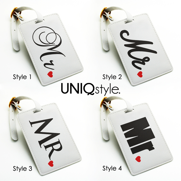 personalized tags set pair mr and mrs couple luggage tag travel