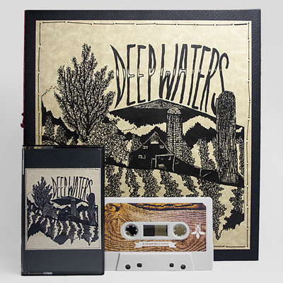 Deep waters - bundle - 'visions in flame' book + cassette (ad149)