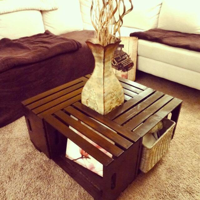 Wine Crate Coffee Table // Rustic Coffee Table // Coffee