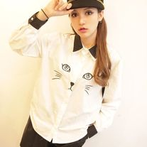 Camisa Gato / Cat Blouse 2WH059