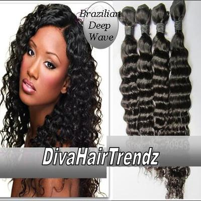 "12"", 14"" & 16"" brazilian remy deep wave hair [3 bundles]"