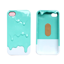 3D Melt Ice Cream Paint Drip Skin Hard Case For iPhone 4 4S