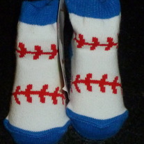 Baseball Socks-NEW-Mudpie Size 0-12 Months