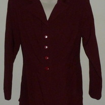 Burgundy Jacket-A-List Size 16