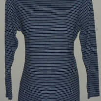 Navy Stripe Mock Turtleneck-Zero2Nine Maternity Size Large