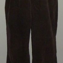 Chocolate Brown Corduroy Pants-New Addition Maternity Size Large
