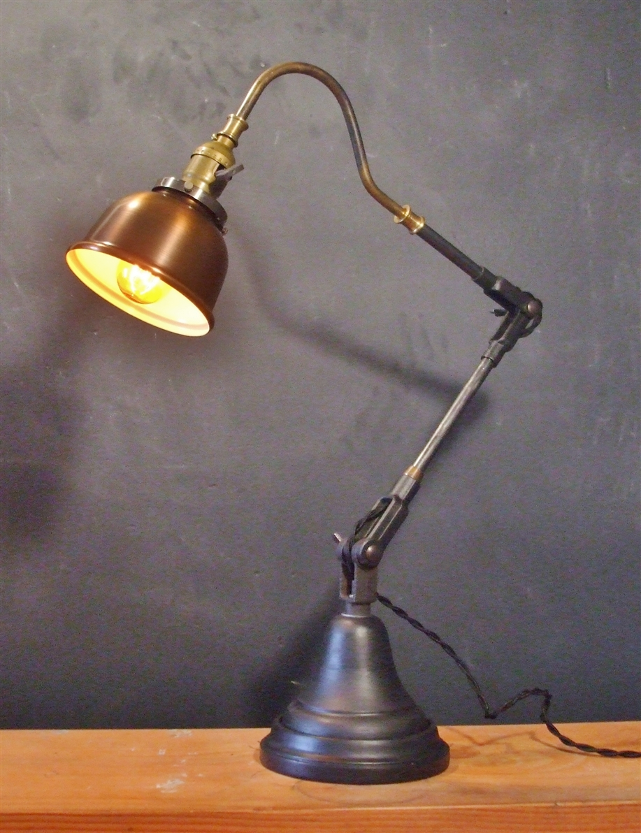 Vintage style desk lamp - Cool Vintage Army Green Gooseneck Desk Lamp By Estateeclectic On Etsy