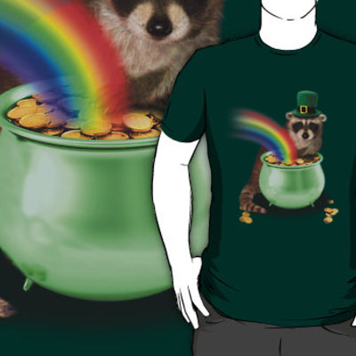 Irish raccoon t-shirt