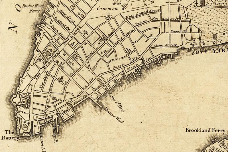 Urban Yore  1776 New York City Vintage Map Canvas Print