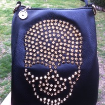 Black Skull Saddle Bag