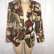 Vintage Black and tan Blazer Size 8!!