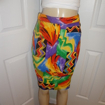 Vintage Colorful Mini Skirt Size 10!