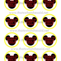 "2"" Mickey Mouse Circle Sticker Digital File"