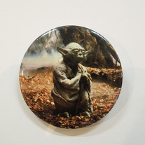 Vintage Star Wars Button - Yoda