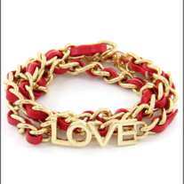 Love Weave Bracelet Red