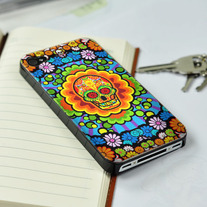 New Chic Colorful Skull & Flowers iPhone Case