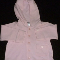 Pink Hooded Jacket-Baby Gap Size 6-12 Months
