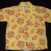 Yellow Short Sleeve Hawaiian Shirt-Old Navy Size 18-24 Months