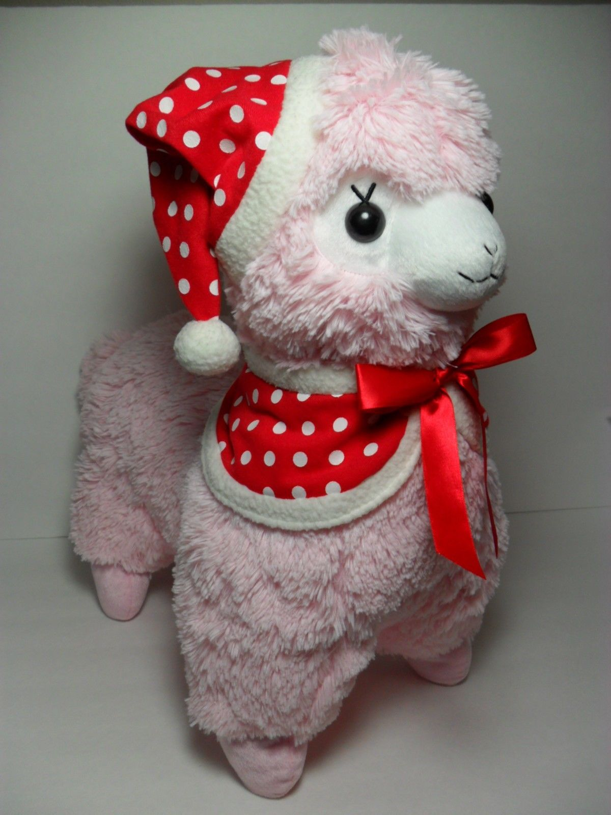 christmas alpacasso mrs claus pink alpaca santa hat u0026 coat 45cm