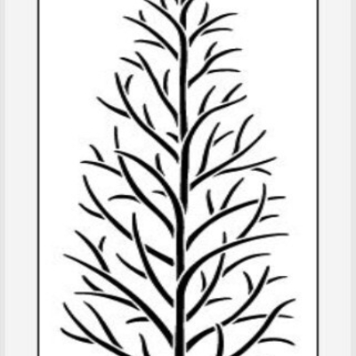 bare tree stencil images