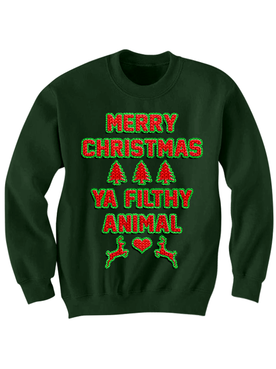 ugly christmas sweater merry christmas you filthy animal gifts holidaydeals funny gifts