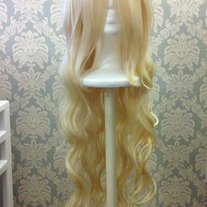 Long Curly Platinum Wig
