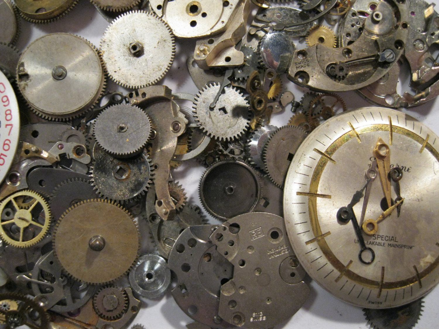 Massive 100g pack watch parts ideal for steampunk crafts for Steampunk arts and crafts