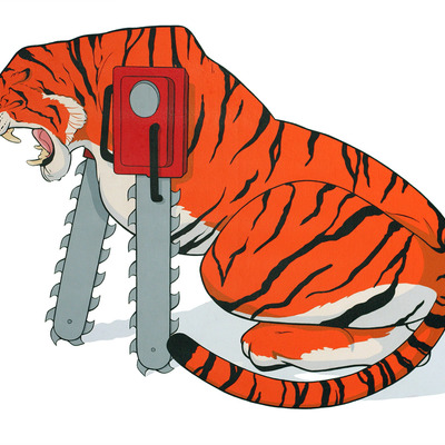 Chainsaw animals - bengal tiger