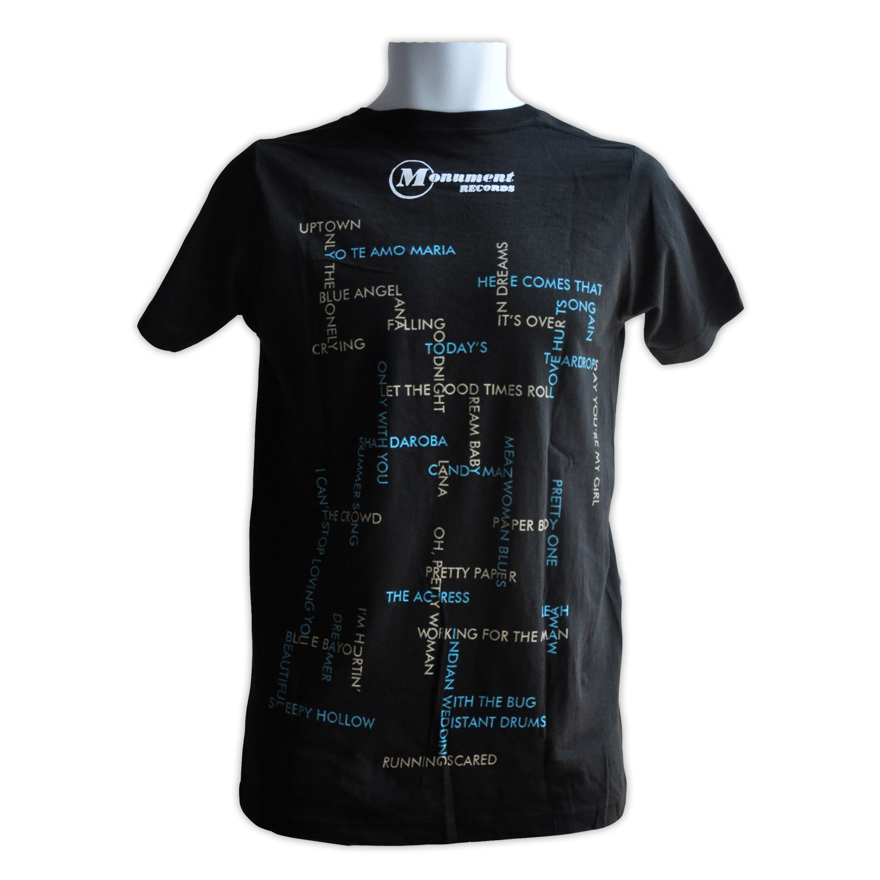 Roy Orbison Monument Singles Collection T Shirt 183 Roy