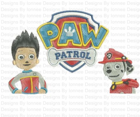 Paw Patrol Logo Machine Embroidery Designs In 2 Sizes On Storenvy