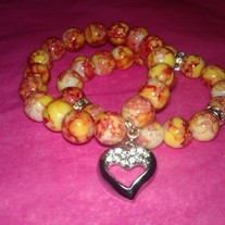 Heart's Bracelets Stack (Little Diva Collection)