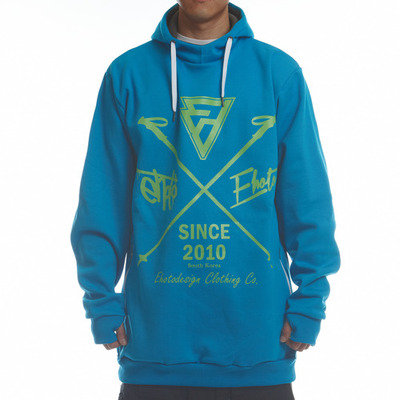 [season off sale] ehoto ski & snowboard union hoodie - light blue