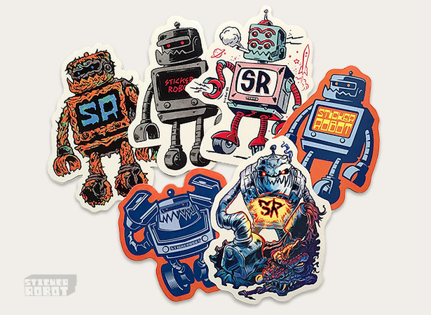 Sticker robot pack by sticker robot aka zoltron
