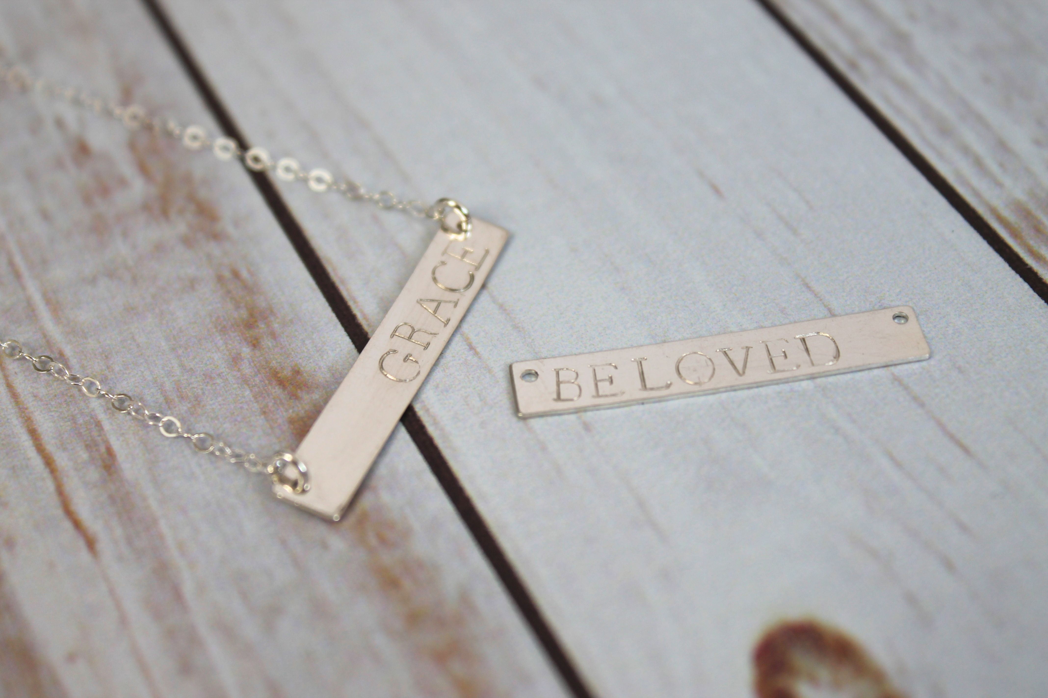hand silver necklace product dime personalized stamped triple disc sterling with initial