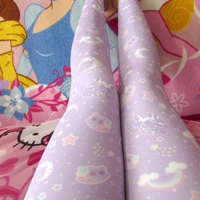 Rainbow stardust leggings made to order