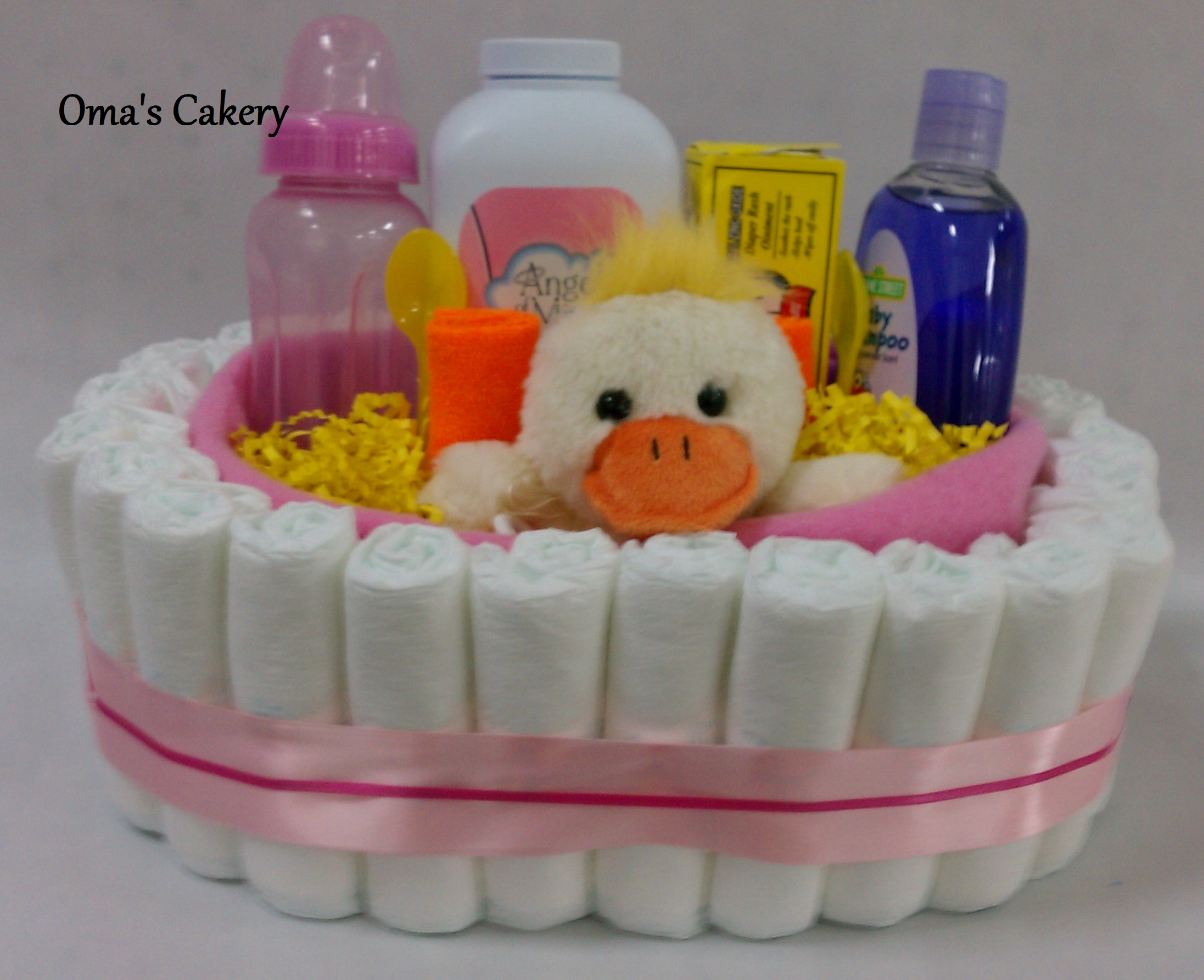 Baby Gift Basket Florida : Oma s cakery duckie diaper basket store powered