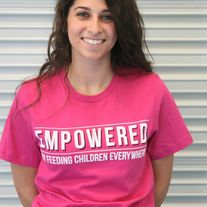 """Empowered"" by Feeding Children Everywhere - Bright Pink"