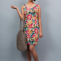 Vibrant Blossom Dress