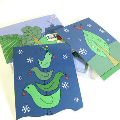 Holiday notecards (joyful abode)