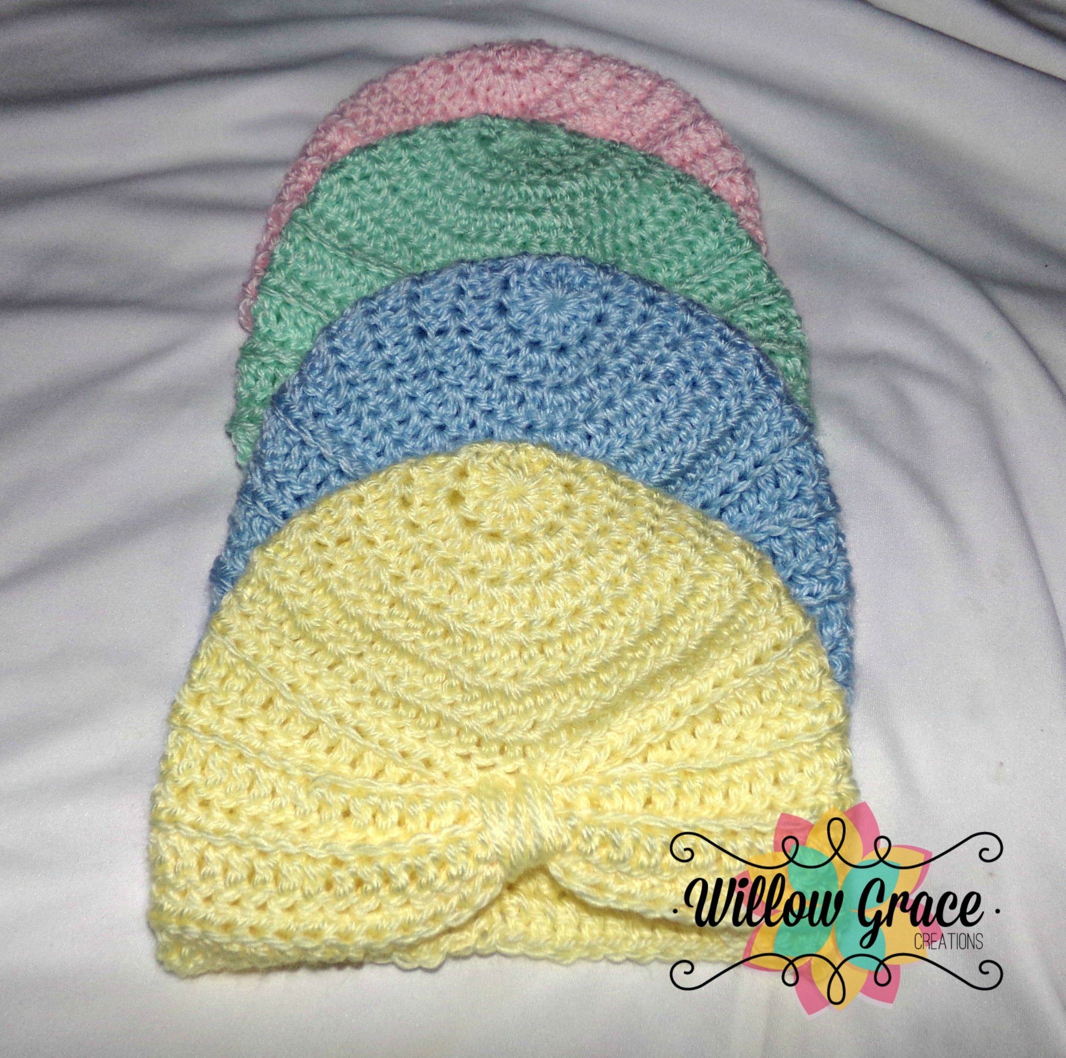 Crochet Baby Turban Hat · Willow Grace Creations · Online Store ... 7e35139e9a4