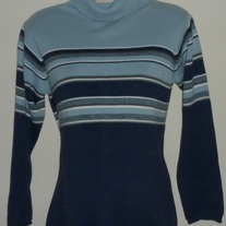Multi Color Blue Turtleneck Sweater-Duo Maternity Size Medium