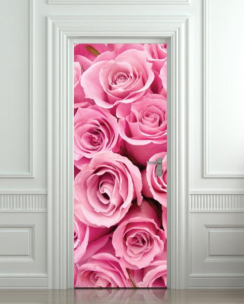 Door Sticker Rose St Valentines Day Mural Decole Film