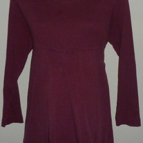 Dark Purple Long Sleeve Top-New Addition Maternity Size Large