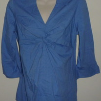 Blue Top with Collar-Mimi Maternity Size Medium